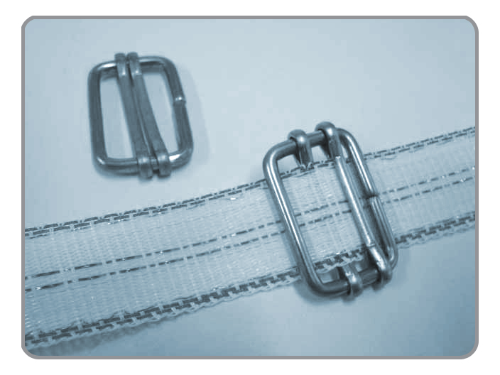 Tape Buckle, Stainless Steel Wire